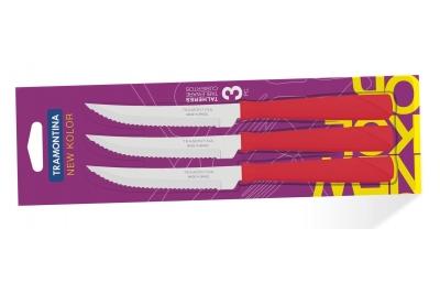 Tramontina New Kolor Ножи для стейка  3 шт (красные) 23160/374
