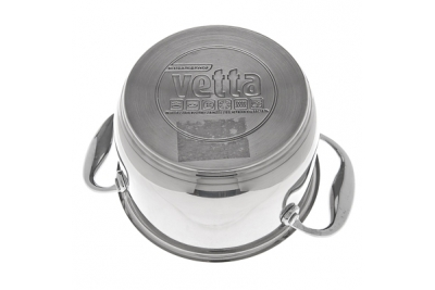 VETTA London кастрюля со стеклянной крышкой 2,0 литра (подходит для индукционных плит)