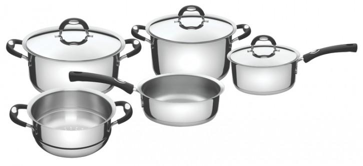 Tramontina Duo Silicone Набор посуды 5 пр. (подходит для индукционных плит) 65480/010