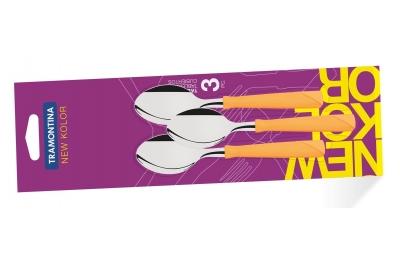 Tramontina New Kolor Ложки чайные  3 шт (оранжевые) 23167/340
