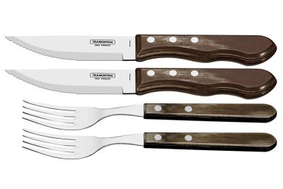 Tramontina Polywood Вилка и Нож Jumbo 4 шт. 21198/908