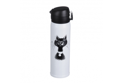 """SATOSHI Термос-кружка с крышкой на защелке """"Кот"""", 450мл"""