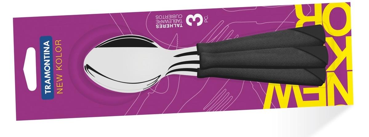 Tramontina New Kolor Ложки столовые  3 шт (черные) 23163/300