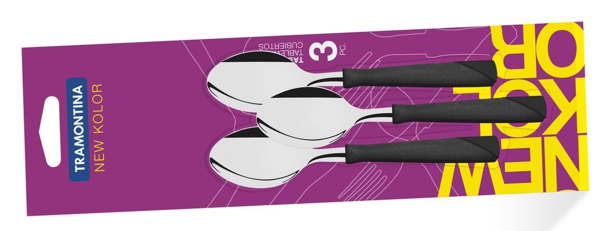 Tramontina New Kolor Ложки чайные  3 шт (черные) 23167/300