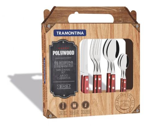 Tramontina Polywood Набор столовых приборов 24 пр. 21199/705
