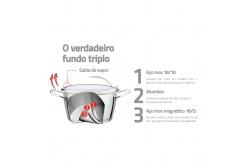 Tramontina Ventura Кастрюля 3.0 л. (подходит для индукционных плит) 62365/184